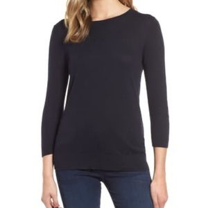 1901 Back Button Crewneck Navy night Sweater